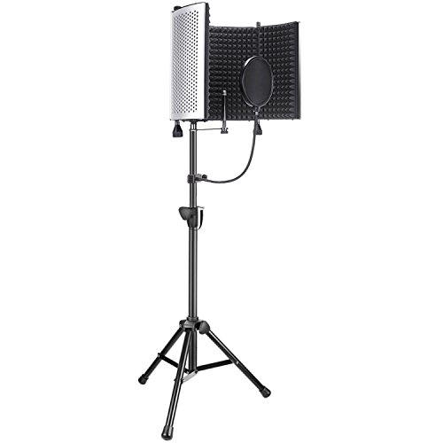 Neewer Professional Mikrofon Studio Aufnahme Zubehör enthalten: NW-5 Mikrofon Isolation Panel, einstellbare Wind Screen Bracket Stand und Pop-Filter für Vocal Acoustic Recording und Podcasting
