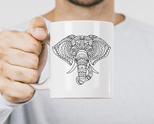 Andrea1Oliver Stammes-Elefant-Becher-Elefant-Kaffeetasse Becher-Elefant-Geschenke Elefant-Geschenke f¨¹r Frauen-Geschenk f¨¹r Tochter-Geschenk f¨¹r sie