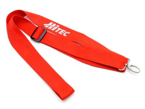 Hi-Tec - Sangle Tour de Cou Dragonne Robuste Rouge avec Clip Déblocage Rapide pour Transmetteur Radio-Commande