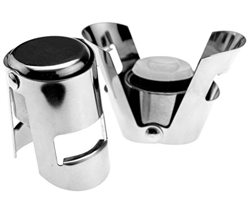 2 X Wine Sektflaschenverschluss Glitzernd Rostfrei Flaschenverschluss Stahl
