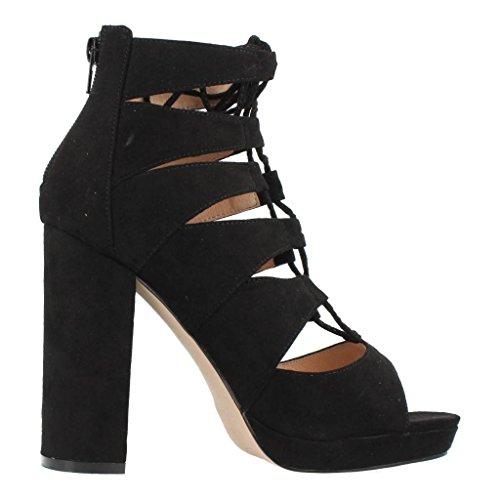 Sandales Et Tongs Pour Femme, Couleur Black, Marque La Strada, Sandales Et Tongs Pour Femme The Road Original Tall Noir Noir