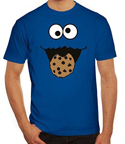 Lustiges Herren T-Shirt Blue Monster, Größe: L,royal blau