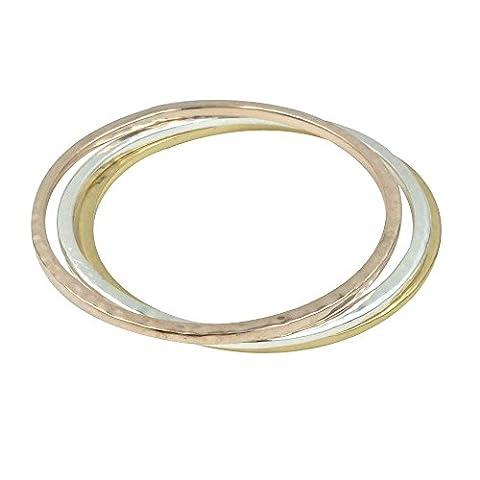 Bellamira Tri Couleur Bracelets 14K Or rose Argent plaqué or 18K Bracelets infinity Bracelet fine bijoux pour femmes filles Unisexe Porter en boîte cadeau de luxe