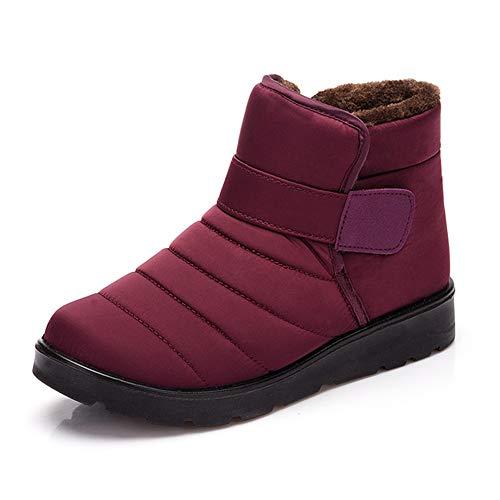 Botas Invierno Mujer Hombre Botines Deportivas Caliente Zapatos Piel Forrado Impermeable Velcro Nieve...