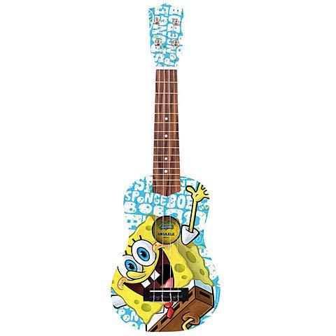 Spongebob SBUK5 Holz-Ukulele, Bikini-Bottom Blau (Spongebob Ukulele)