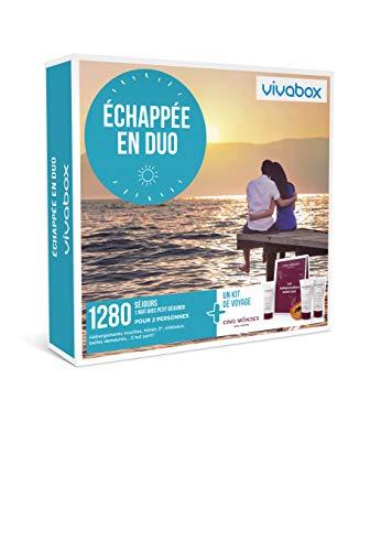 Vivabox - Coffret cadeau couple - ECHAPPÉE EN DUO - 1280 week-ends romantiques +1...