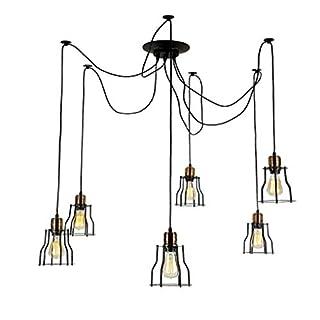 6 Creative Spider Chandelier Personality Restaurant bar Retro Iron cage lamp