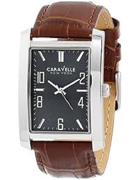 Caravelle New York Men's 43A119 Analog Display Japanese Quartz Brown Watch
