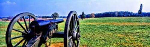The Poster Corp Panoramic Images - Cannon at Manassas National Battlefield Park Manassas Prince William County Virginia USA Photo Print (45,72 x 15,24 cm)