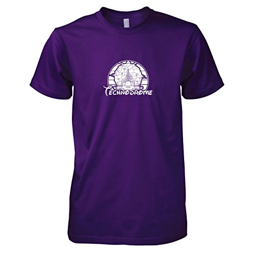 TEXLAB - Turtles Technodrome - Herren T-Shirt, Größe XXL, violett