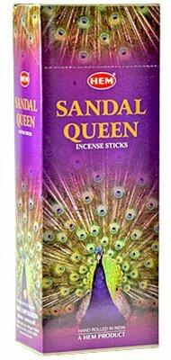 Sandale Queen – Boîte de six 20 bâton tubes, 120 bâtonnets Total – Ourlet Encens