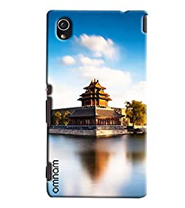 Omnam Japanese Temple Printed Designer Back Cover Case For Sony Xperia M4