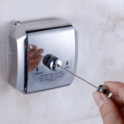 Khskx Hôtel Slip Cool simple Corde à linge Corde en acier inoxydable 304Fil rétractable Étendoir