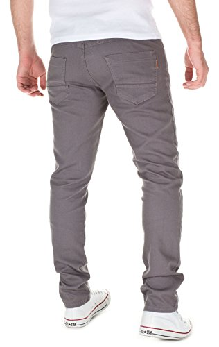 WOOSAH Herren Chinohose Alex Slim-Fit grey (3003)