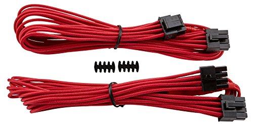 "Corsair CP-8920166 Premium Sleeved ""RMi-, RMx,- SF und Typ4 (Generation 3)-Serie"" Netzteil EPS12V/ATX12V-Kabel rot"