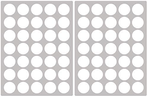 PREMYO 70er Set Kreise Wandsticker Kinderzimmer Wandtattoo Wand-Deko Stilvoll Einfaches Anbringen Selbstklebend Raufaser-Tapete Geeignet Weiß