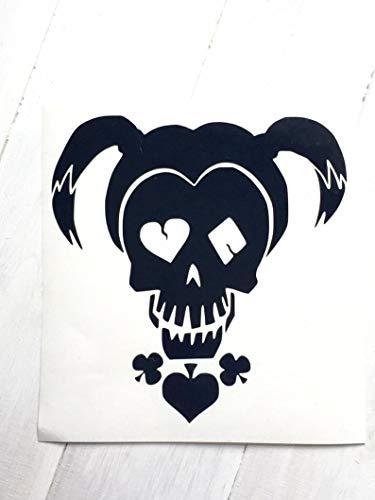 Cellayay DIY Harley Quinn Girl Skull Cut aus Vinyl