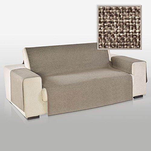 La biancheria di casa elizabeth copri poltrona divano antiscivolo (2 posti, tortora)