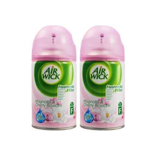 Frühlings-frischen Duft (2 x Airwick Freshmatic Nachfüller Magnolie & Kirschblüte, blumig Frühlings frischer Duft je 250 ml)