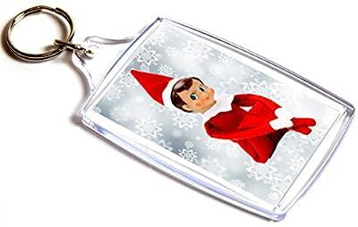 Elf On The Shelf, Christmas Gift - Double Sided Keyring - inexpensive UK light store.