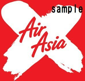 in-aviation-sticker-airasia-x-waterproof-paper-seal-suitcase-dress-up