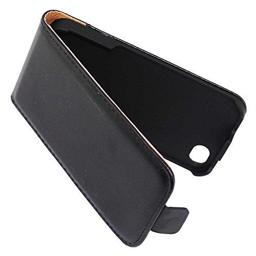 ebestStar - pour Apple iPhone 4S, 4 - Housse Coque Etui à rabat PU cuir ULTRA FIN (ultra slim case) + Mini Stylet tactile + 3 Films protection écran, Couleur Vert [Dimensions PRECISES de votre apparei Noir