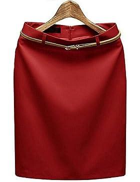 De las mujeres Faldas - Sobre la rodilla Casual / Para Trabajo Rígido - Poliéster , s