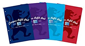 Oxford Campus A4 Size Refill Pad - Assorted Colour, Pack of 5