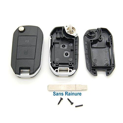 Peugeot - Guscio chiave elettronica a 2 pulsanti per Peugeot 107, 207, 307, 308 e 407