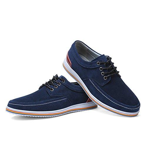 vilocy hommes de tow-top Casual Chaussures à lacets Bleu - bleu