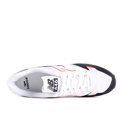 New Balance U446, Baskets Homme Blanc (White/navy)