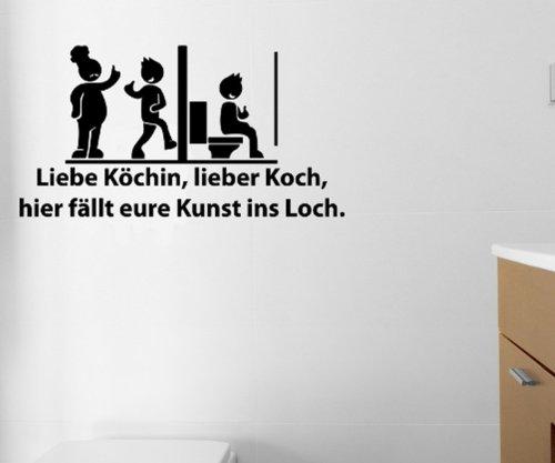 Toiletten Spruch Aufkleber, Wandtattoo Badezimmer, WC Bad Sticker lustig 1K006