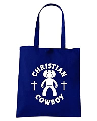 Cotton Island - Sac shopping FUN1003 christian cowboy die cut vinyl decal sticker 51860, Taille Capacita 10 litri