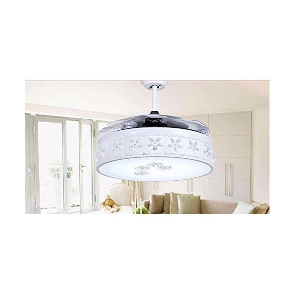 FGSGZ-Ventilador-De-Techo-Luz-Telescpico-Ventilador-Led-Lmpara-De-Araa-Iluminacin-Casa-42-Pulgadas-36W-La-Atenuacin-Regulador-De-Pared107Cm-En-Dimetro
