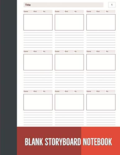Blank Storyboard Notebook: Storyboard Sketchbook Paper Template Panel Pages for Storytelling, Filmmakers, Advertisers, Animators, and More. Size 8.5 x ... 8) (Blank Storyboard Notebook 9x9, Band 8)