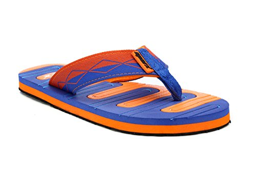 Sparx Men's BlueOrange Canvas Hawaii House Slippers (SF0036G)-6 UK  available at amazon for Rs.356