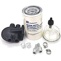 SSI Marine Kit de Filtro Separador de Agua Transparente, Cabeza de plástico para Yamaha MAR-FUELF-IL-TR fueraborda