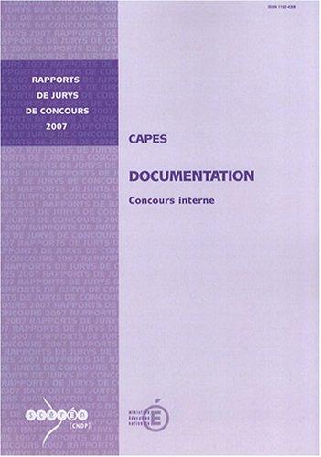 CAPES documentation : Concours interne