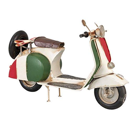 6y1207 clayre & eef - decorazione - modello - scooter - naturale ca. 30 x 12 x 19 cm