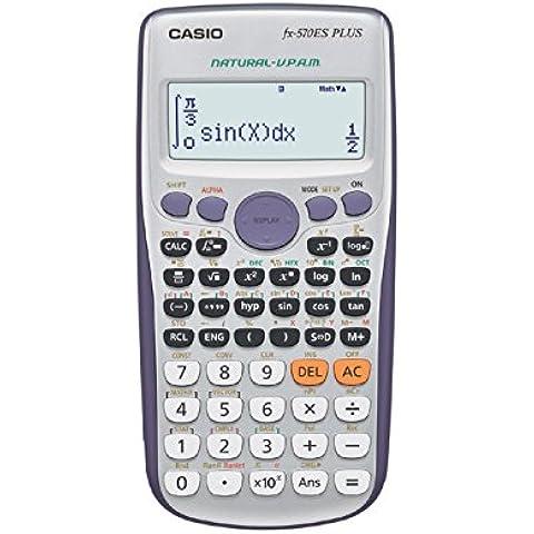 Casio FX-570ES Plus - Calculadora científica (417 funciones, 15 + 10 + 2 dígitos, pantalla Natural), color