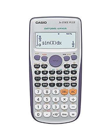 Casio FX-570ES Plus Desktop Display calculator Grey,Silver - calculators (Desktop, Display calculator, Grey, Silver, Buttons, Dot-matrix,