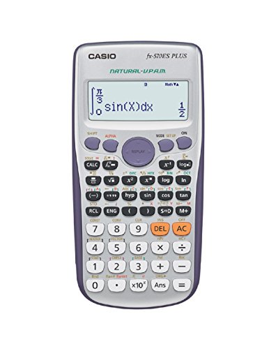 Casio FX-570ES Plus - Calculadora científica (417 funciones, 15 + 10 + 2 dígitos, pantalla Natural), color gris