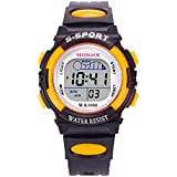 HOT, Waterproof Children Boys Digital LED Sports Watch Kids Alarm Date Watch Gift YE By YANG-YI