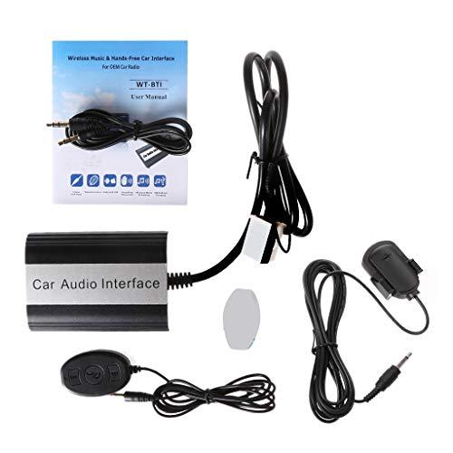 Jenor Kfz-Freisprecheinrichtung Bluetooth Kits MP3 AUX Adapter Interface für VW Audi Skoda 12pin