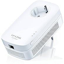 TP-Link TL-PA8010P - Extensor de red por línea eléctrica (con enchufe, AV 1200 Mbps, sin configuración, con puerto Gigabit), color blanco