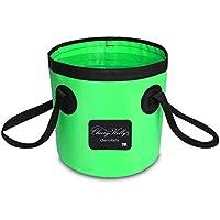 CherryKelly Wasserdicht - Zusammenklappbar Barrels/Tasche - Kleidung Lagerung - Faltbar Eimer/Wäschekorb - Multifunktional Faltbar Wassertank Für Angeln, Camping, Wandern & Fahren Travel - 20L Green