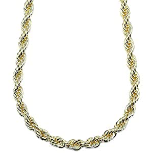 "18K GOLD PLATED RUN DMC HIP HOP ROPE CHAIN, DOOKIE CHAIN, STAINLESS STEEL 8mm x 30"" - TOP QUALITY"
