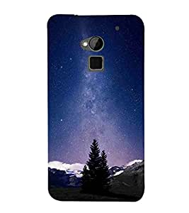 For HTC One Max :: HTC One Max Dual SIM night star, milky way, mountain Designer Printed High Quality Smooth Matte Protective Mobile Case Back Pouch Cover by Paresha