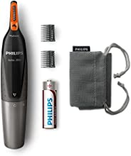 Philips NT3160 Nose Trimmer Series 3000 Comfortable nose, ear & eyebrow Trimmer , Fully washable , AA batt