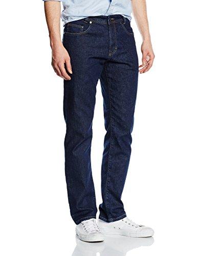 Atelier GARDEUR Herren Straight Leg Jeanshose Nevio-1, Gr. W33/L36, Blau (dark blue 69) (Knopf Vorne Herren-kleiner)